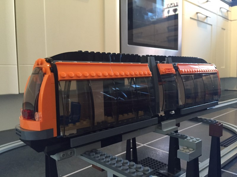 Lego 60097 Tram Converted To Monorail Lego Train Tech