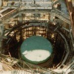 1st steel liner placed into 1st Pressure Vessel - 1972
