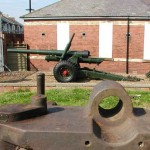 5.5 howitzer guarding the Battery gate