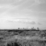 Hartlepool South Steelworks from Seaton dunes. Jan 1980