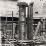 Light metal ducting being placed in the Pressure Vessels