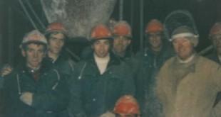 Night-shift slipforming (concrete gang, carpenters, steelfixers, welder)