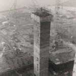 Reactor Hall towers - February 1970