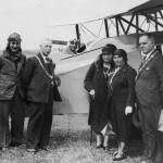 Sir Alan Cobham at Seaton Airfield for an Air dispaly in 1929.