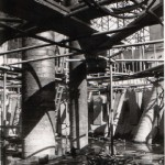View of Pressure Vessel construction after the first (central) pour of concrete