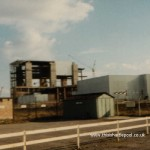 View of Reactor Hall with Turbine Hall in foreground - summer 1972