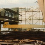 View showing (yellow) upper EOT crane - 1972