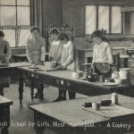 cookery class at the girls high school