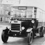 trolly bus front black